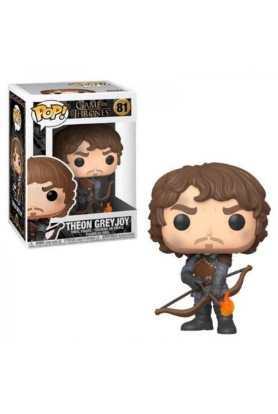 UEGO DE TRONOS POP! TELEVISION VINYL FIGURA THEON W/FLAMMING ARROWS 9 CM