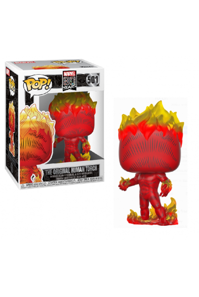 MARVEL 80TH POP! HEROES VINYL FIGURA HUMAN TORCH (FIRST APPEARANCE) 9 CM