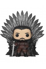 JUEGO DE TRONOS POP! DELUXE VINYL FIGURA JON SNOW ON IRON THRONE 15 CM